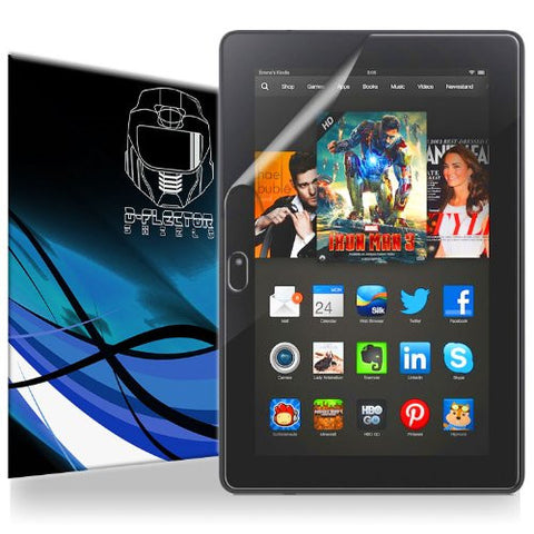"D-Flector Super HD Clear Scratch Resistant AMAZON KINDLE FIRE HDX 7"" Screen Protector - Free Replacement Program"