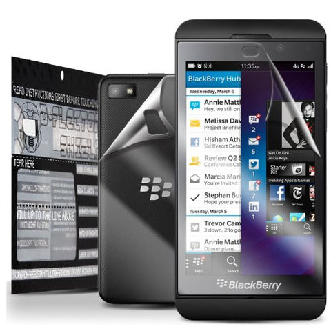 D-Flectorshield Super Clear Scratch Resistant BLACKBERRY Z10 Screen Protector & Full Body Shield - Free Replacement Program