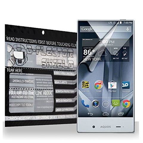 D-Flectorshield Sharp Aquo S Crystal Aquos Scratch Resistant Screen Protector - Free Replacement Program