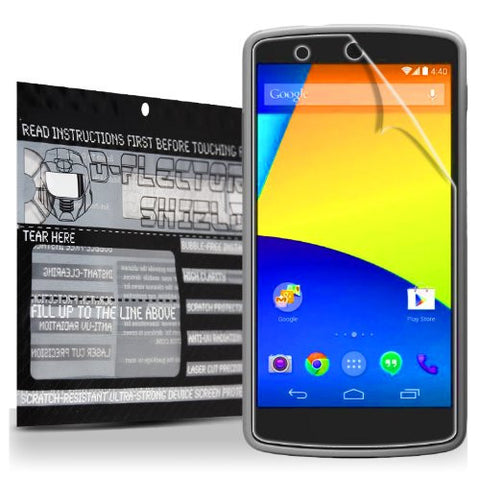 D-Flectorshield Super HD Clear Scratch Resistant GOOGLE NEXUS 5 Screen Protector - Free Replacement Program