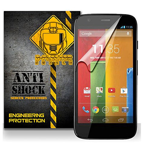 D-Flectorshield MOTOROLA MOTO G Anti-Shock/military grade/ TPU /Premium Screen Protector / self healing / oleophobic material / EZ install / ultra high definition / scratch proof / bubble free install / precise laser cuts