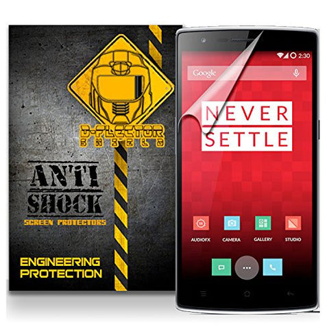 D-Flectorshield OnePlus One Anti-Shock/military grade/ TPU /Premium Screen Protector / self healing / oleophobic material / EZ install / ultra high definition / scratch proof / bubble free install / precise laser cuts