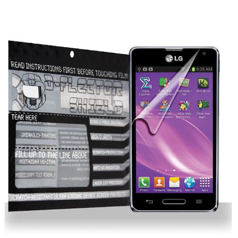 D-Flectorshield LG Optimus F3Q Scratch Resistant Screen Protector - Free Replacement Program