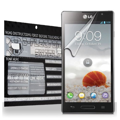 D-Flectorshield LG Optimus L9 P769 Scratch Resistant Screen Protector - Free Replacement Program