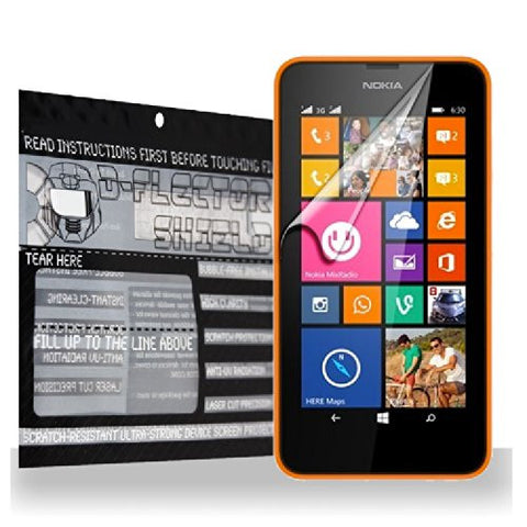 D-Flectorshield Nokia Lumia 635 AT&T Screen Protector Scratch Resistant / Self Healing Technology / HD Clarity / lint and bubble free with Free Lifetime Replacement Program