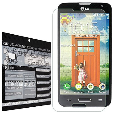 DFlectorshield Premium Scratch Resistant Screen Protector for the LG Optimus L70 MS323 HD Protection with free Lifetime Replacement Program