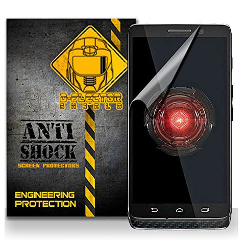 D-Flectorshield MOTOROLA DROID MINI Anti-Shock/military grade/ TPU /Premium Screen Protector / self healing / oleophobic material / EZ install / ultra high definition / scratch proof / bubble free install / precise laser cuts