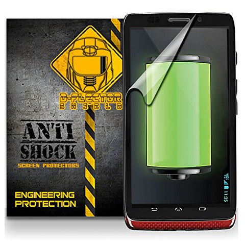 D-Flectorshield MOTOROLA DROID MAXX Anti-Shock/military grade/ TPU /Premium Screen Protector / self healing / oleophobic material / EZ install / ultra high definition / scratch proof / bubble free install / precise laser cuts