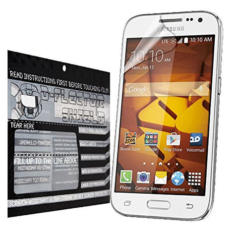 DFlectorshield Premium Scratch Resistant Screen Protector for Samsung Galaxy Prevail HD Protection with free Lifetime Replacement Program