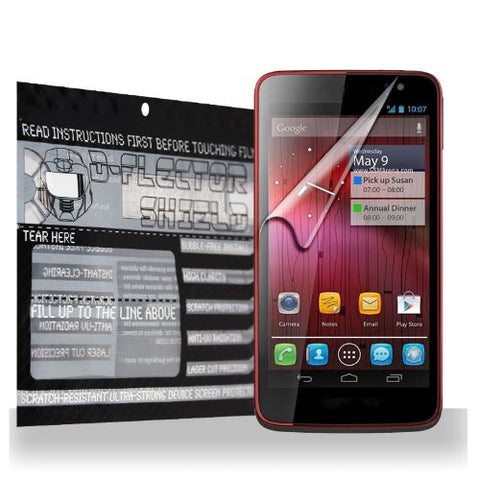 D-Flectorshield Alcatel One Touch Scribe HD / HD - LTE / HD-LTE Scratch Resistant Screen Protector - Free Replacement Program