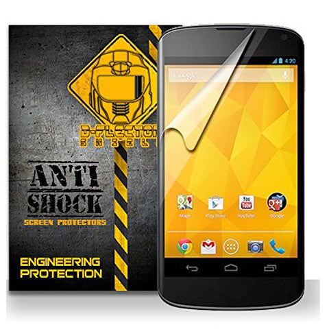D-Flectorshield LG GOOGLE NEXUS 4 Anti-Shock/military grade/ TPU /Premium Screen Protector / self healing / oleophobic material / EZ install / ultra high definition / scratch proof / bubble free install / precise laser cuts