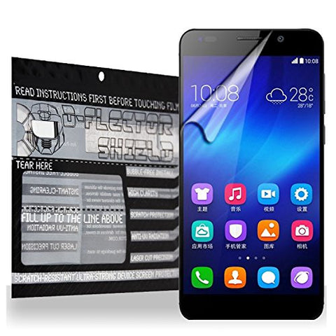 D-Flectorshield Scratch Resistant Huawei Honor 6 Premium screen protector/anti-scratch/scratch resistant/self-healing technology/oleophobic material/high definition/bubble free install/Precise and accurate fitment with lifetime free replacement program