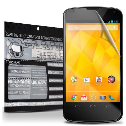 D-Flectorshield Super Clear Scratch Resistant LG GOOGLE NEXUS 4 Screen Protector - Free Replacement Program