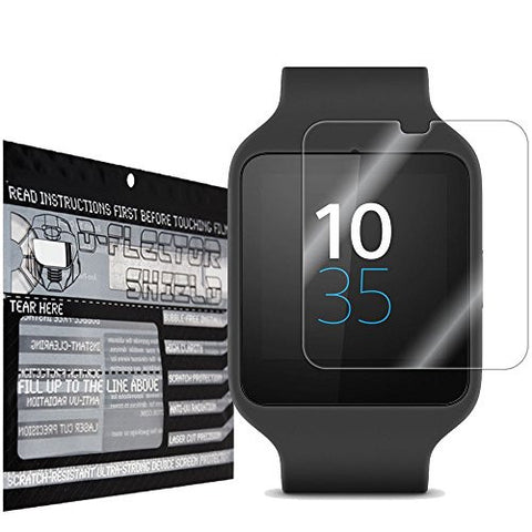 DFlectorshield Premium Scratch Resistant Screen Protector for the Sony Smartwatch 3 HD Protection with free Lifetime Replacement Program