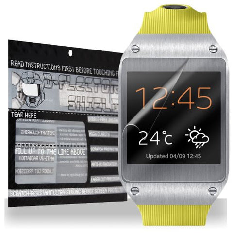 D-Flectorshield Clear Scratch Resistant SAMSUNG GALAXY GEAR Screen Protector Android Watch - Free Replacement Program