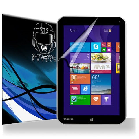 D-Flectorshield Scratch Resistant Toshiba Encore WT8-A32M Touchscreen Tablet Premium screen protector/anti-scratch/scratch resistant/self-healing technology/oleophobic material/high definition/bubble free install/Precise and accurate fitment