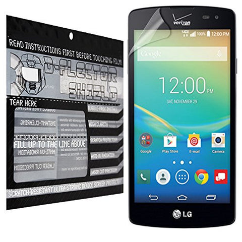 D-Flectorshield LG Transpyre Scratch Resistant Screen Protector - Free Replacement Program