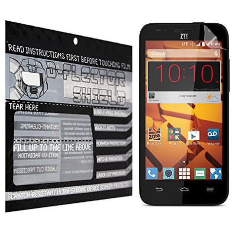 D-Flectorshield ZTE Speed Scratch Resistant Screen Protector - Free Replacement Program