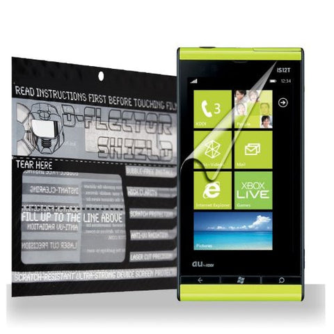 D-Flectorshield Toshiba Windows Phone IS12T Scratch Resistant Screen Protector - Free Replacement Program