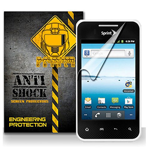 D-Flectorshield LG Optimus Elite Anti-Shock/military grade/ TPU /Premium Screen Protector / self healing / oleophobic material / EZ install / ultra high definition / scratch proof / bubble free install / precise laser cuts