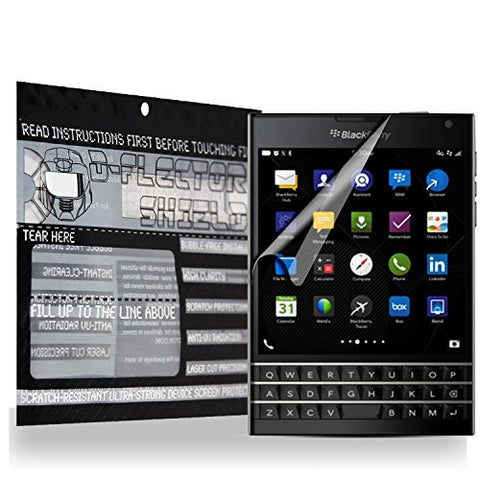 D-Flectorshield Blackberry Passport Scratch Resistant Screen Protector - Free Replacement Program