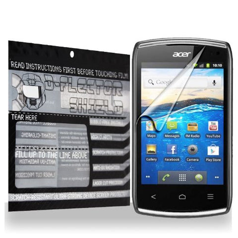 D-Flectorshield Acer Liquid Z110 Scratch Resistant Screen Protector - Free Replacement Program
