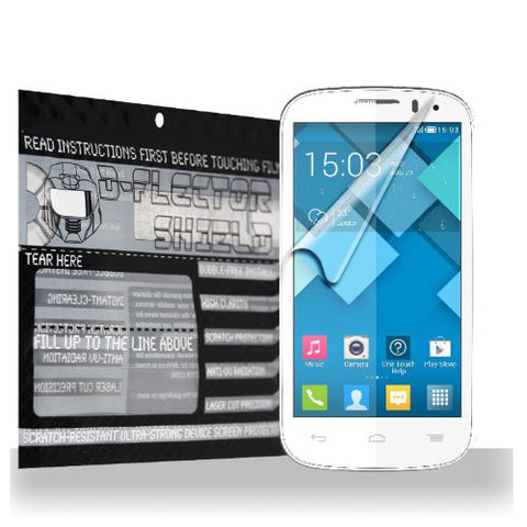 D-Flectorshield Alcatel One Touch Pop C9 Scratch Resistant Screen Protector - Free Replacement Program