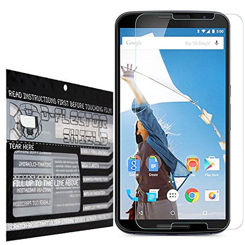 DFlectorshield Premium Scratch Resistant Screen Protector for the Google Nexus 6 HD Protection with free Lifetime Replacement Program