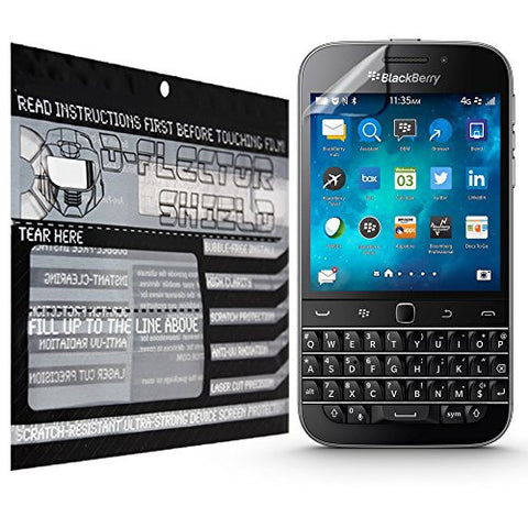 D-Flectorshield Blackberry Classic Scratch Resistant Screen Protector - Free Replacement Program