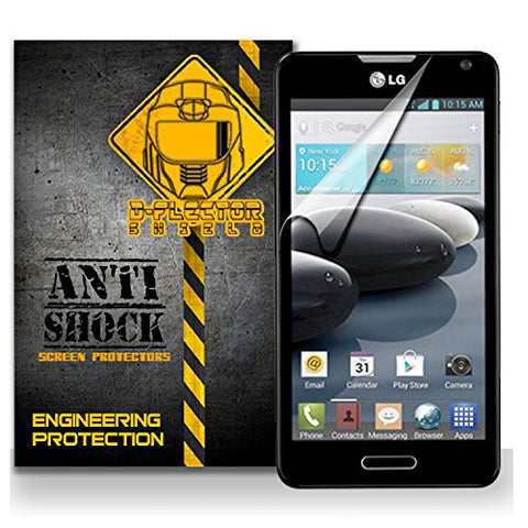 D-Flectorshield LG OPTIMUS F6 Anti-Shock/military grade/ TPU /Premium Screen Protector / self healing / oleophobic material / EZ install / ultra high definition / scratch proof / bubble free install / precise laser cuts