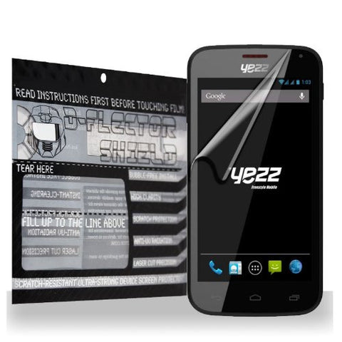 D-Flectorshield Yezz Andy A4.5 Scratch Resistant Screen Protector - Free Replacement Program