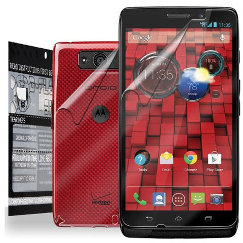 D-Flector Super Clear Scratch Resistant MOTOROLA DROID MAXX Screen Protector + Full Body Shield - Free Replacement Program