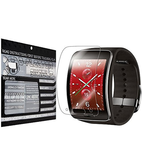 DFlectorshield Premium Scratch Resistant Screen Protector for the Samsung Gear S HD Protection with free Lifetime Replacement Program