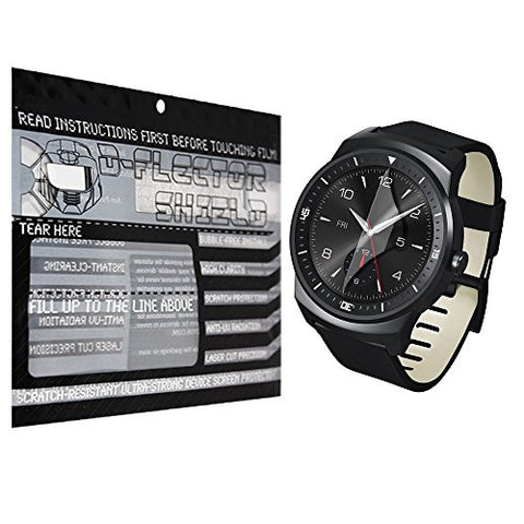 D-Flectorshield LG G Watch R Scratch Resistant Screen Protector - Free Replacement Program
