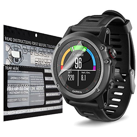 DFlectorshield Premium Scratch Resistant Screen Protector for Garmin Fenix 3 HD Protection with free Lifetime Replacement Program