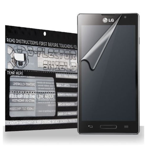 D-Flectorshield LG Optimus L9 P760 Scratch Resistant Screen Protector - Free Replacement Program
