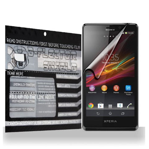 D-Flectorshield Sony Xperia T Scratch Resistant Screen Protector - Free Replacement Program