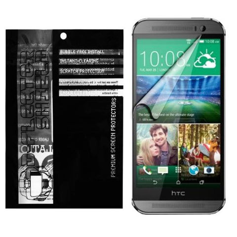D-Flectorshield HTC One M8 3 pack Screen Protector Scratch Resistant / EZ peel and stick installation/ Super HD Clarity / lint and bubble free with Free Lifetime Replacement Program