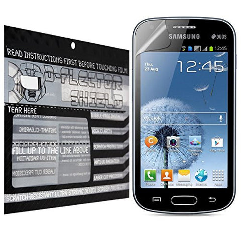 D-Flectorshield Samsung Galaxy S Duos 3 Scratch Resistant Screen Protector - Free Replacement Program