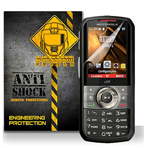D-Flectorshield Motorola i418 Anti-Shock/military grade/ TPU /Premium Screen Protector / self healing / oleophobic material / EZ install / ultra high definition / scratch proof / bubble free install / precise laser cuts