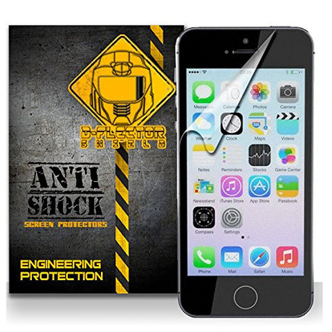 D-Flectorshield Iphone 5 and 5S Anti-Shock/military grade/ TPU /Premium Screen Protector / self healing / oleophobic material / EZ install / ultra high definition / scratch proof / bubble free install / precise laser cuts