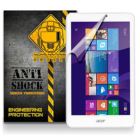 Acer Iconia Tab 8 Anti-Shock/military grade/ TPU /Premium Screen Protector / self healing / oleophobic material / EZ install / ultra high definition / scratch proof / bubble free install / precise laser cuts