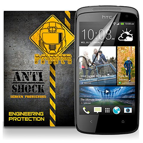 D-Flectorshield HTC DESIRE 500 Anti-Shock/military grade/ TPU /Premium Screen Protector / self healing / oleophobic material / EZ install / ultra high definition / scratch proof / bubble free install / precise laser cuts