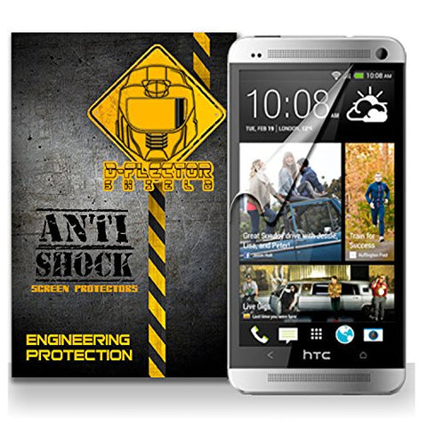 D-Flectorshield HTC ONE M7 Anti-Shock/military grade/ TPU /Premium Screen Protector / self healing / oleophobic material / EZ install / ultra high definition / scratch proof / bubble free install / precise laser cuts