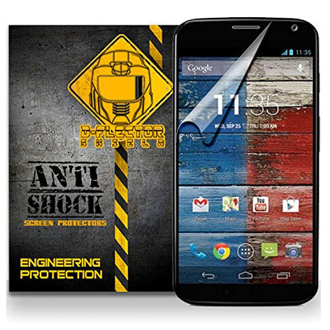 D-Flectorshield MOTOROLA MOTO X Anti-Shock/military grade/ TPU /Premium Screen Protector / self healing / oleophobic material / EZ install / ultra high definition / scratch proof / bubble free install / precise laser cuts
