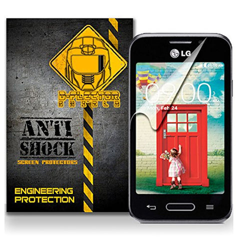 D-Flectorshield LG L40 Anti-Shock/military grade/ TPU /Premium Screen Protector / self healing / oleophobic material / EZ install / ultra high definition / scratch proof / bubble free install / precise laser cuts