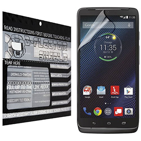 D-Flectorshield Motorola Droid Turbo Scratch Resistant Screen Protector - Free Replacement Program