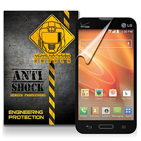 D-Flectorshield LG Optimus Exceed 2 L70 Anti-Shock/military grade/ TPU /Premium Screen Protector / self healing / oleophobic material / EZ install / ultra high definition / scratch proof / bubble free install / precise laser cuts