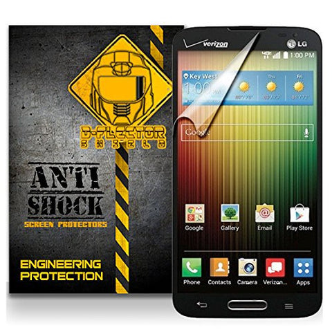 D-Flectorshield LG Lucid 3 III VS876 Anti-Shock/military grade/ TPU /Premium Screen Protector / self healing / oleophobic material / EZ install / ultra high definition / scratch proof / bubble free install / precise laser cuts