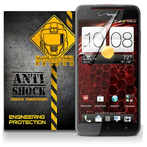 D-Flectorshield HTC DROID DNA / BUTTERFLY Anti-Shock/military grade/ TPU /Premium Screen Protector / self healing / oleophobic material / EZ install / ultra high definition / scratch proof / bubble free install / precise laser cuts